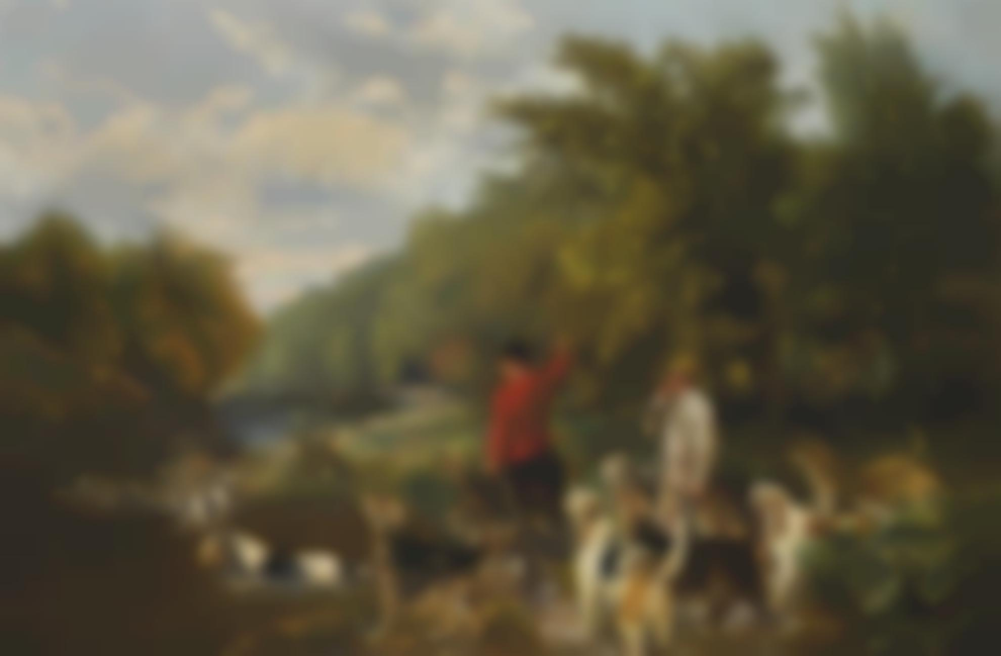 John Sargeant Noble - Otter Hunt On The Lowther-