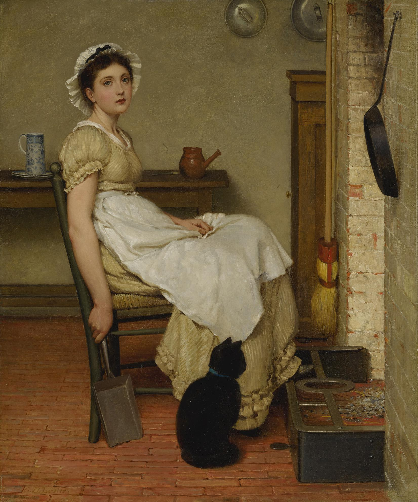 George Dunlop Leslie - Her First Place-