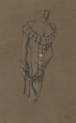 Sir Edward Coley Burne-Jones Bt. - Study For The Briar Wood