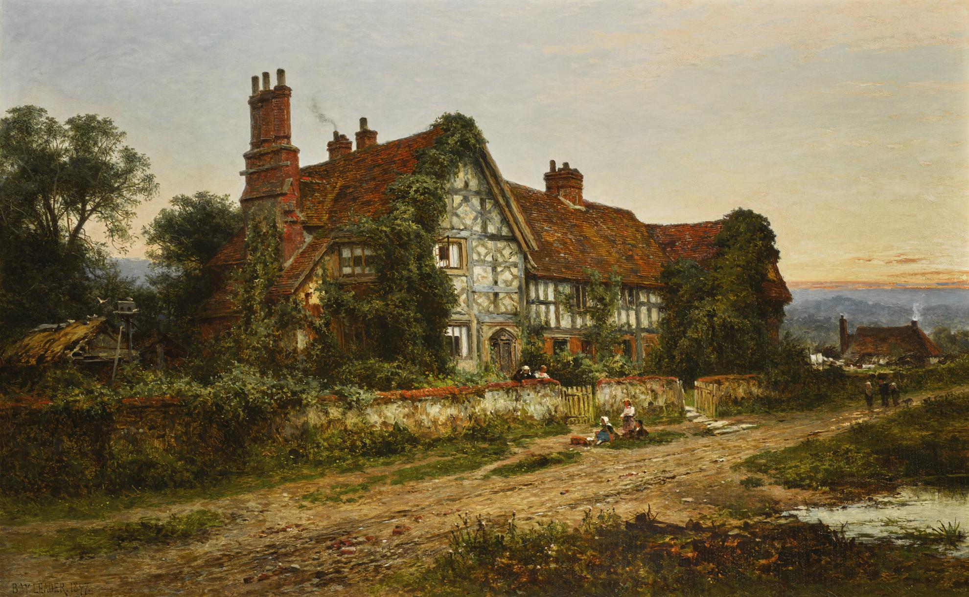 Benjamin Williams Leader - A Relic Of The Past-1897
