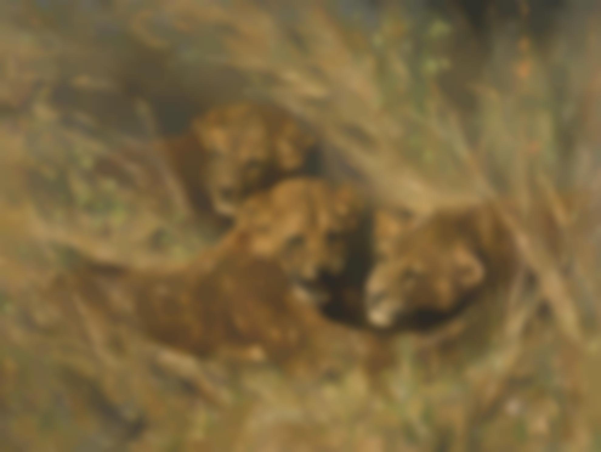 Arthur Wardle R.I. R.B.C. - Lion Cubs-