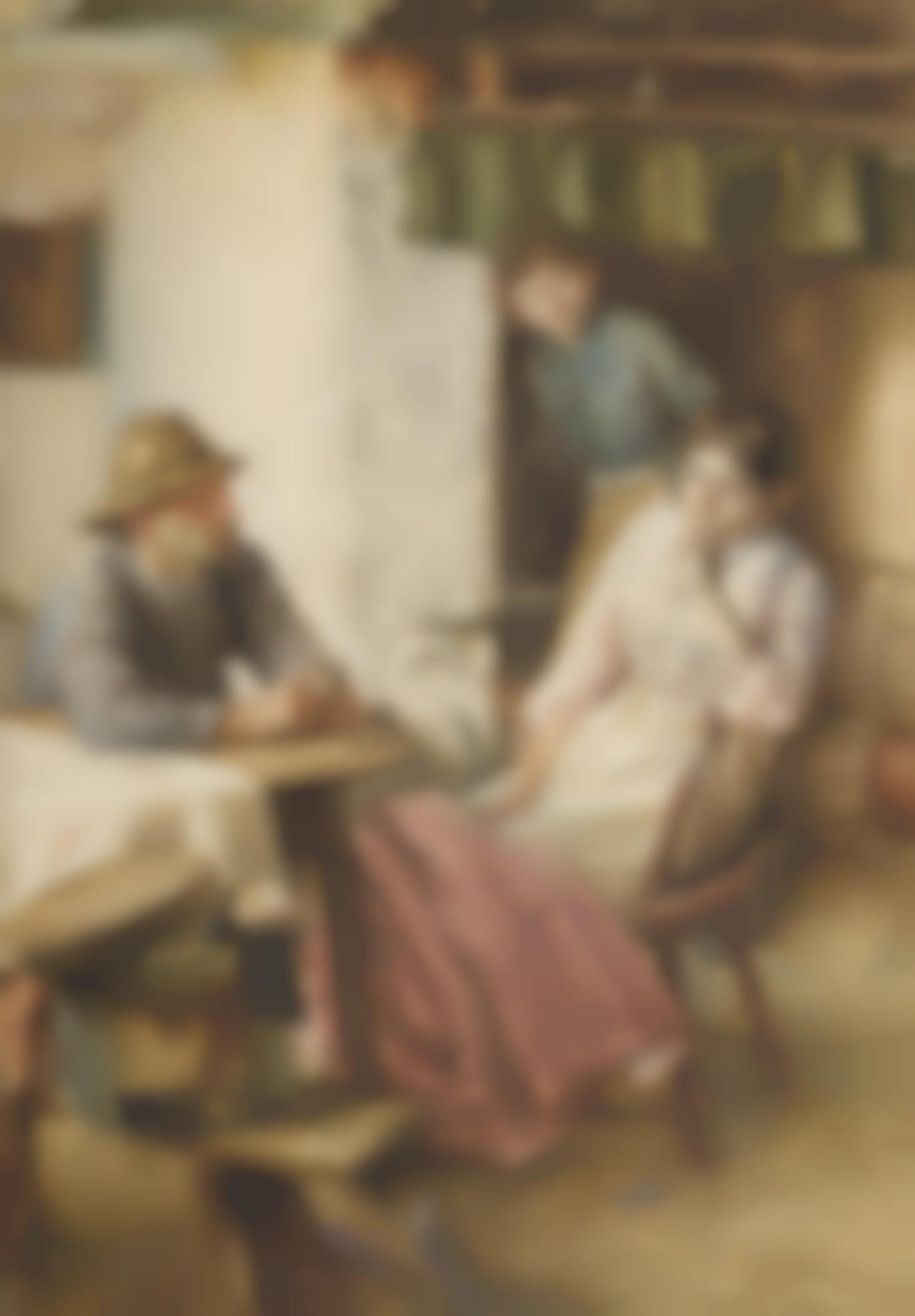 Walter Langley R.I. - An Anxious Moment-
