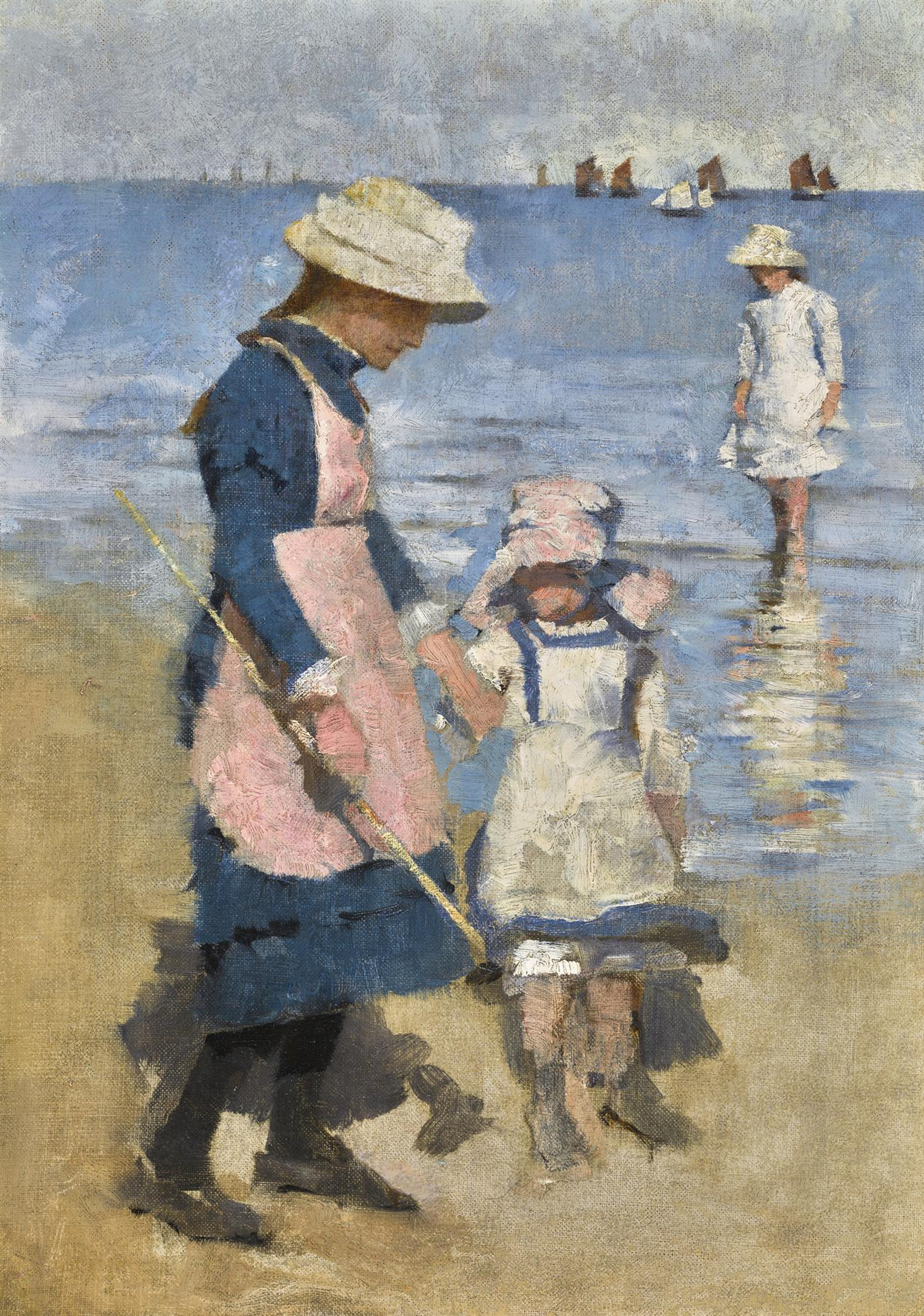 Stanhope Alexander Forbes - Children On The Beach, Cancale-