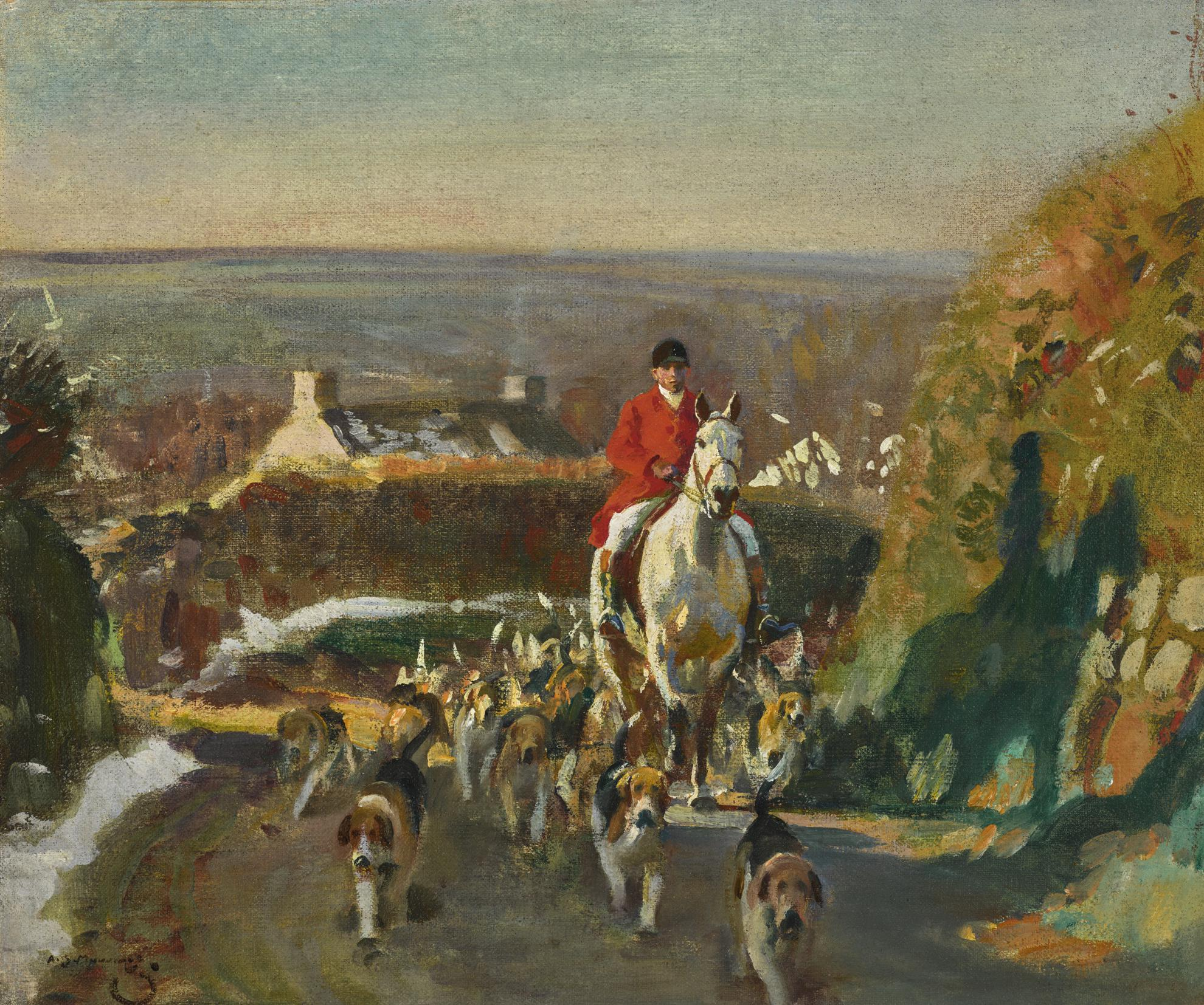 Sir Alfred James Munnings P.R. - December Morning, Cornwall-