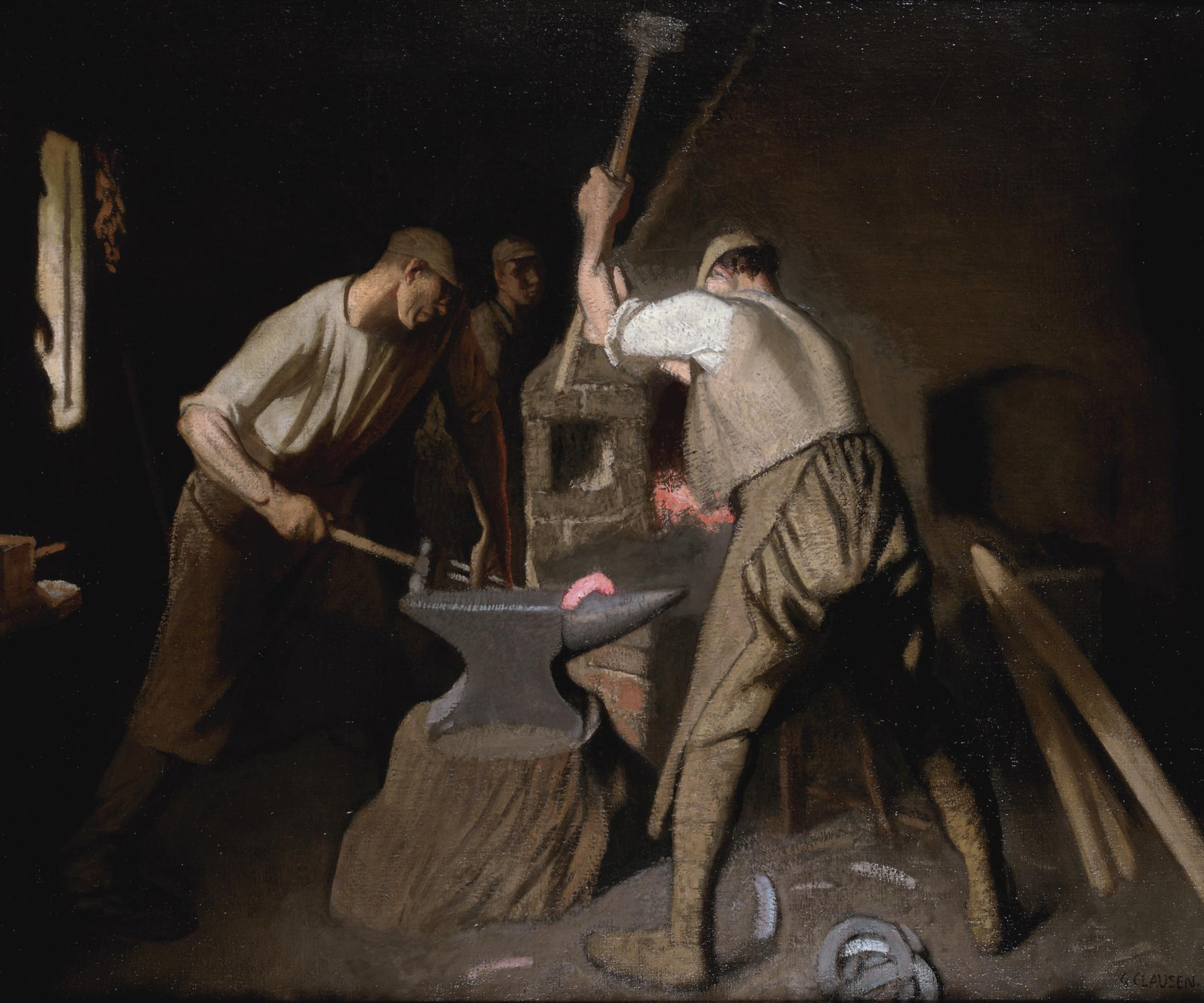 Sir George Clausen R.I. - Our Blacksmith-1931