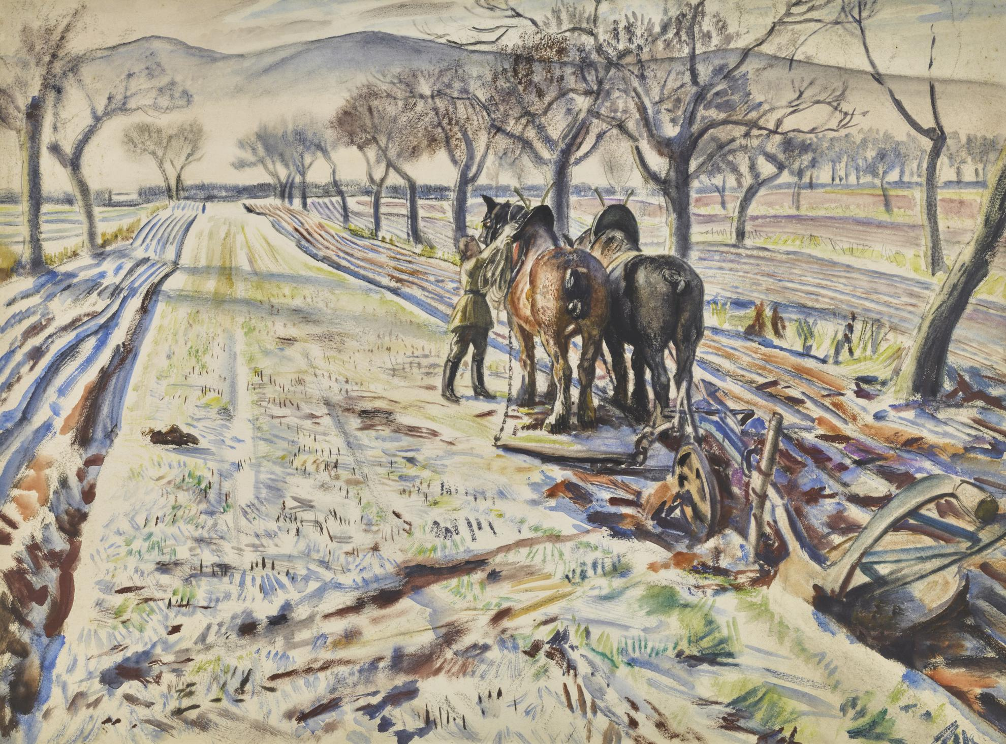 Dame Laura Knight-Plough In The Cherry Orchard, Malvern Hills-
