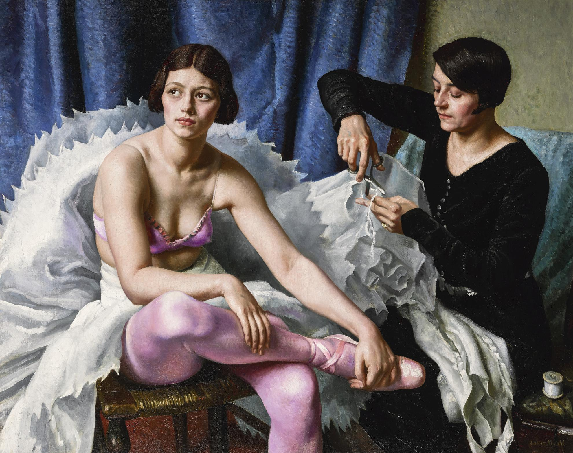Dame Laura Knight-The Ballet Girl And The Dressmaker-