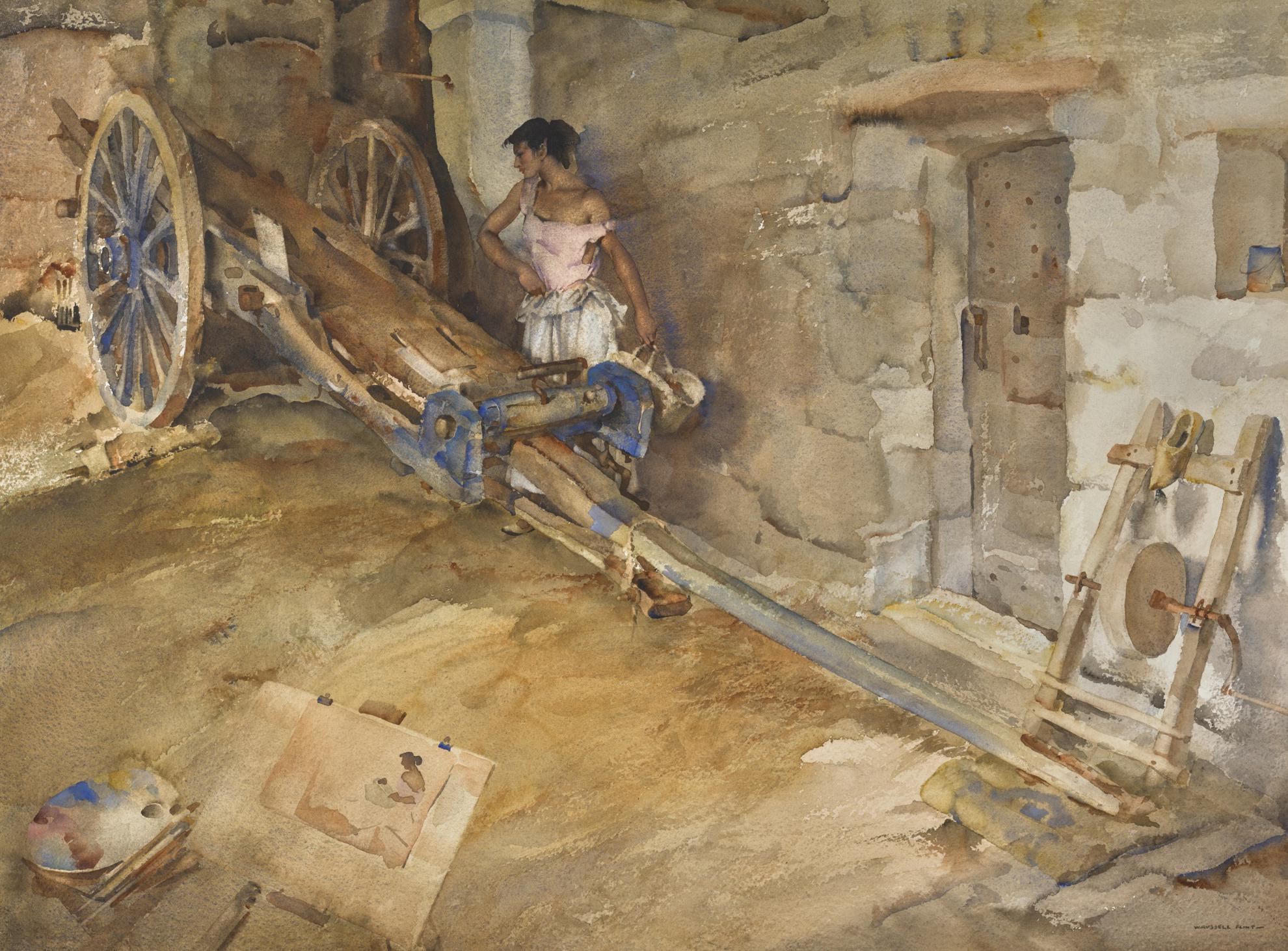 Sir William Russell Flint P.R.W.S. - Ambrosine, Model And Critic-