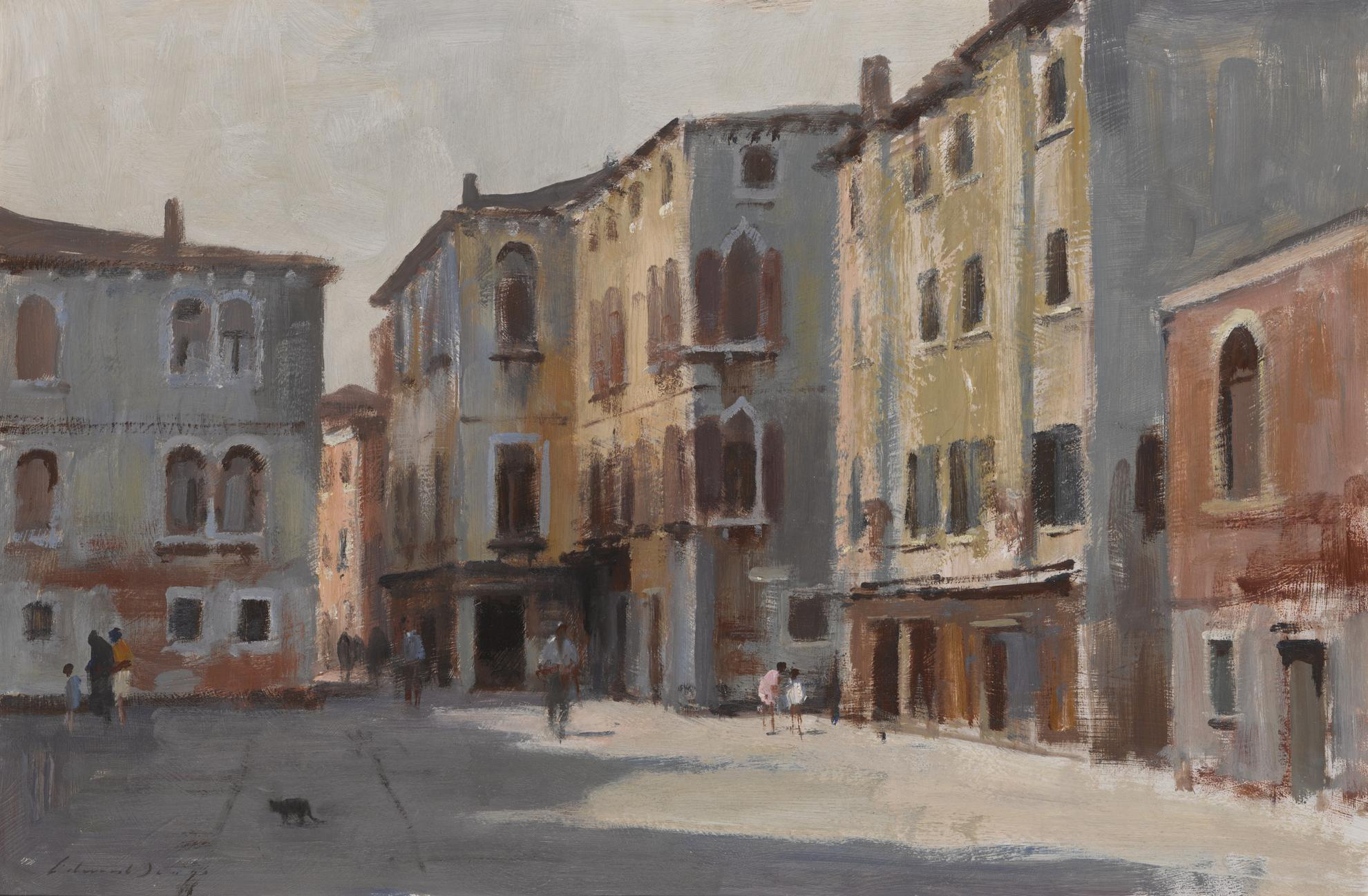 Edward Seago-A Venetian Square-