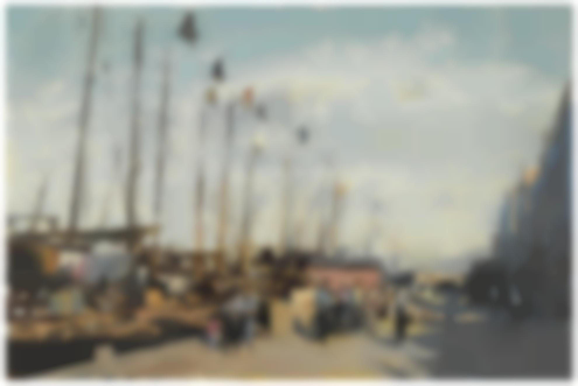 Edward Seago-Quayside At Aberdeen, Hong Kong-