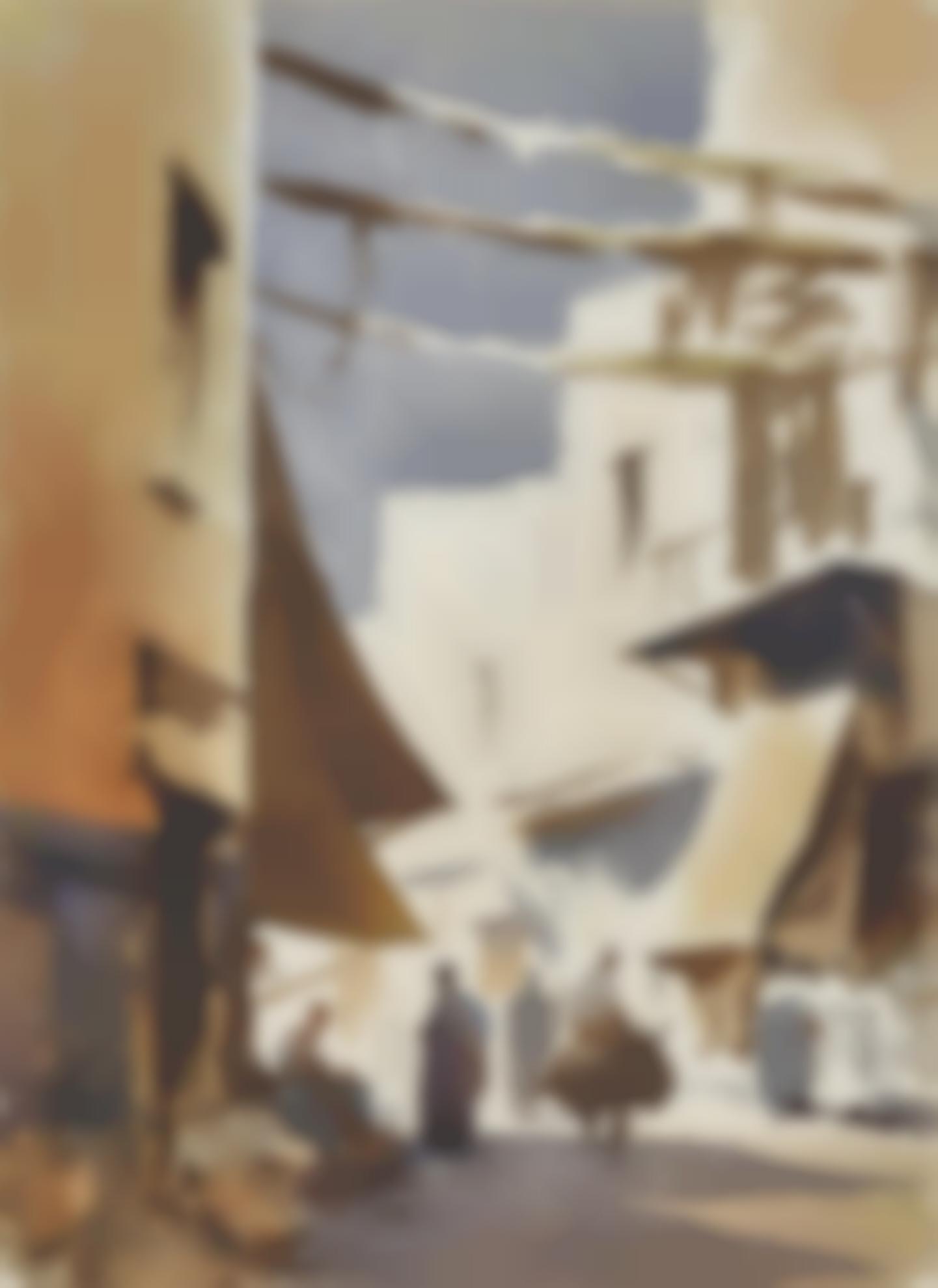 Edward Seago-Street Corner In Essaouira, Morocco-