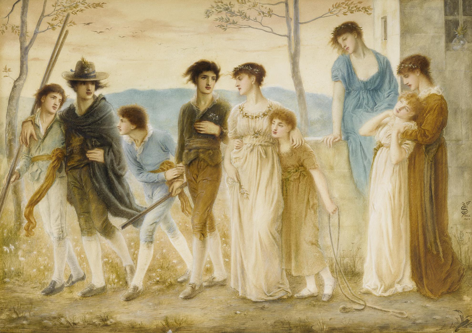 Simeon Solomon - In The Summer Twilight-1869