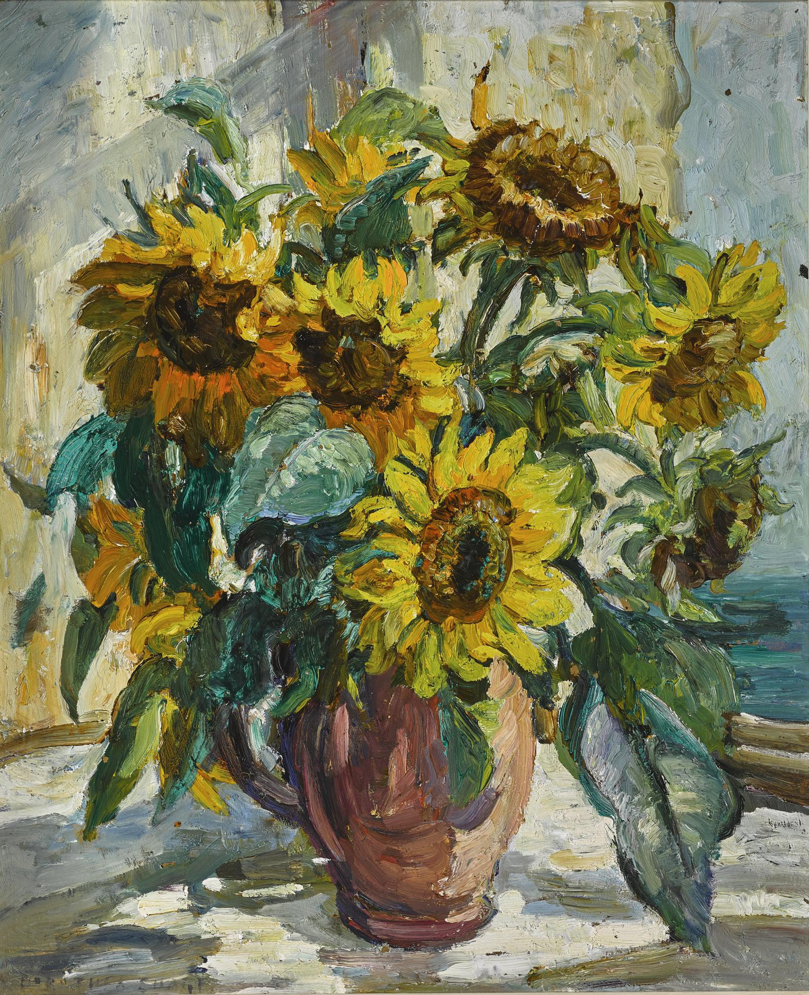 Dorothea Sharp R.O.I. V.P.S.W.A. - Sunflowers-
