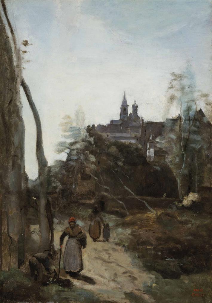 Jean-Baptiste-Camille Corot-Semur, Le Chemin Deglise-1860