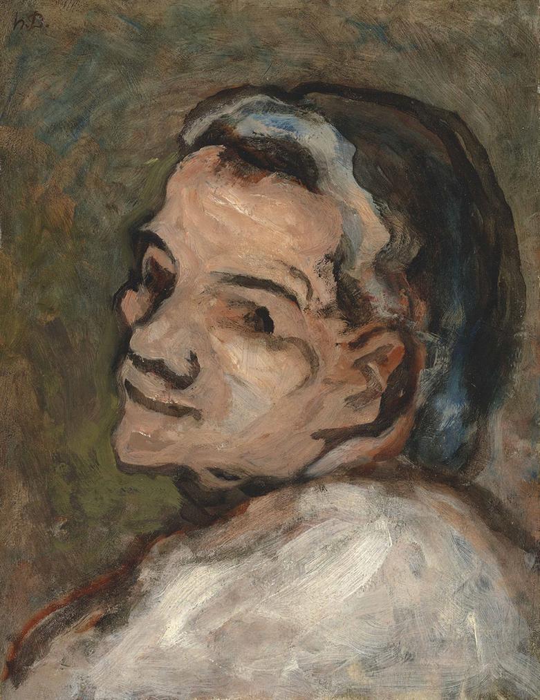 Honore Victorin Daumier - Tete De Scapin-1850