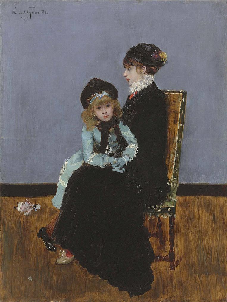 Norbert Goeneutte - Lelegance: Mere Et Fille-1879