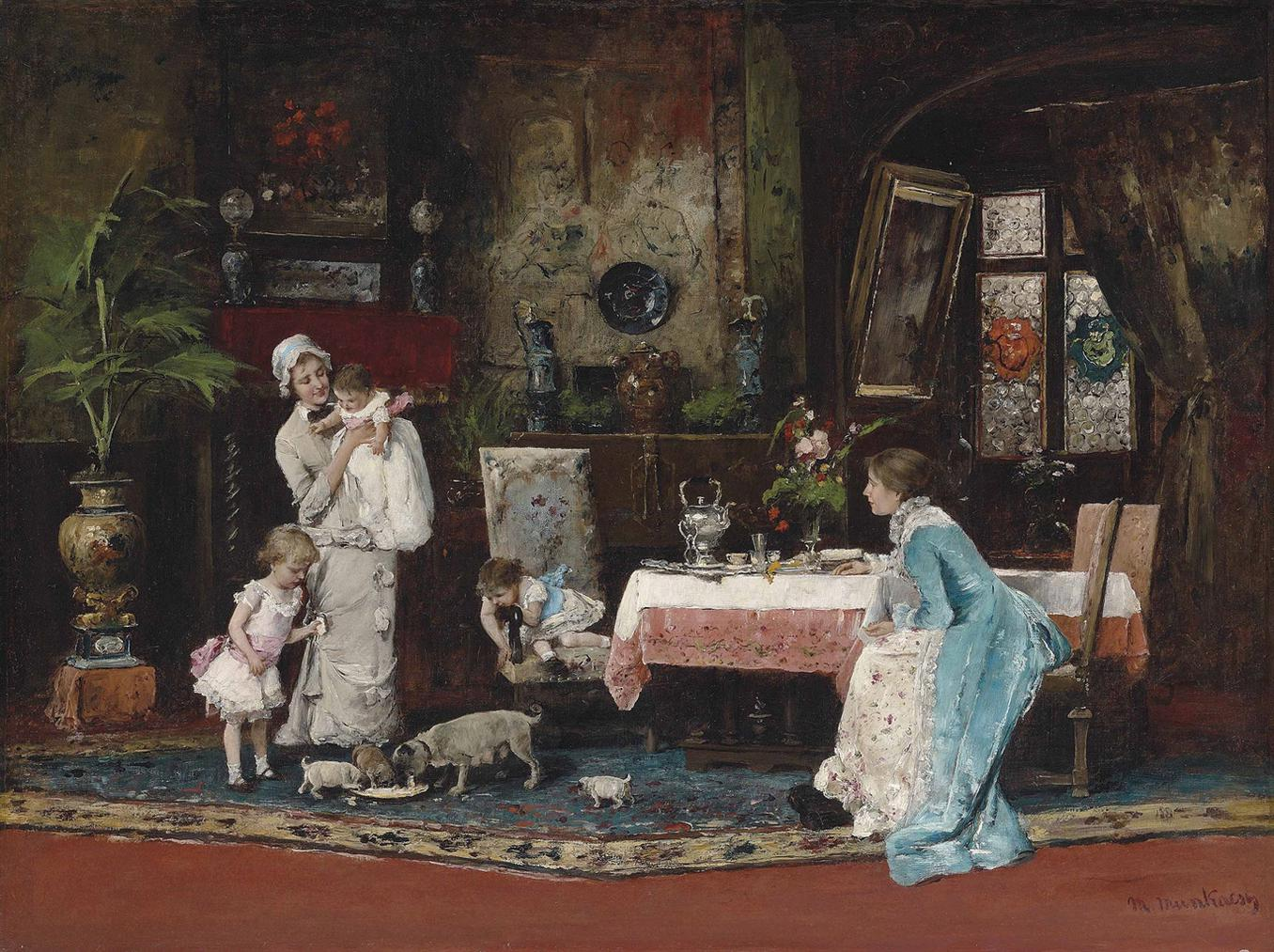 Mihaly Munkacsy - The Two Families-