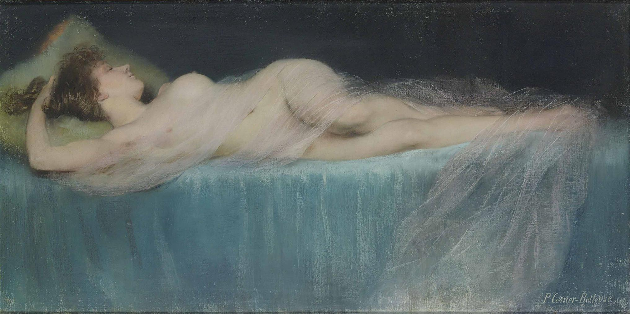 Pierre Carrier-Belleuse - Sleeping Nude-