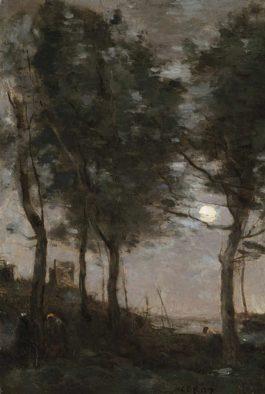 Jean-Baptiste-Camille Corot-Clair De Lune Au Bord De La Mer