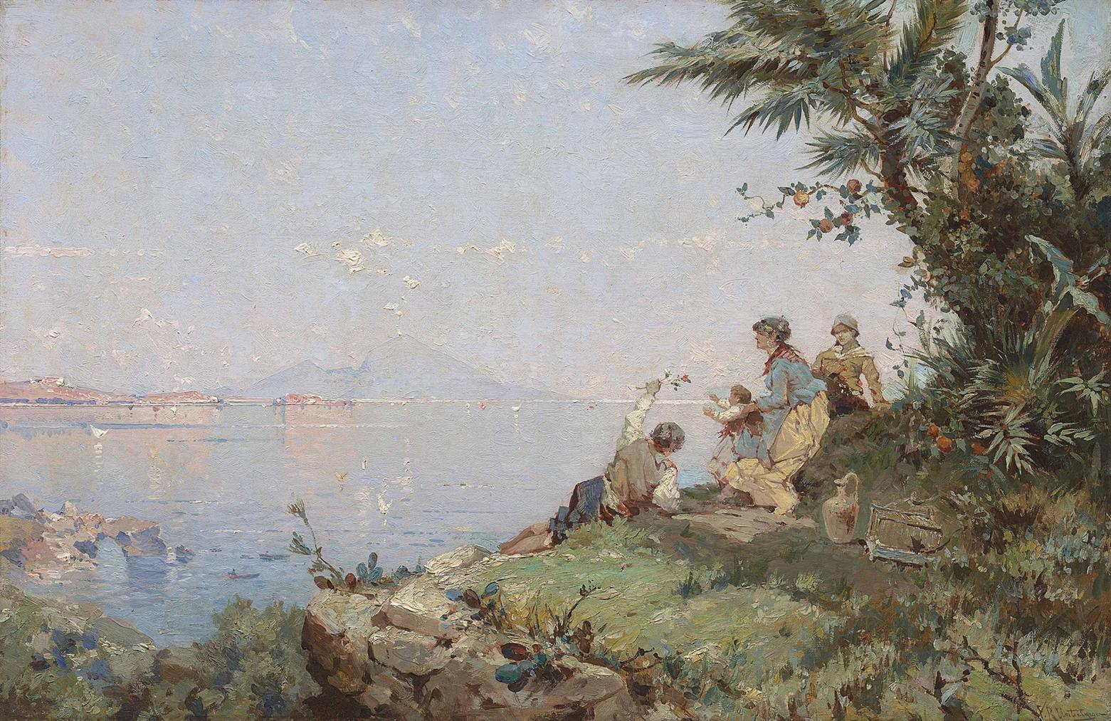 Franz Richard Unterberger - Am Golf Von Neapel-