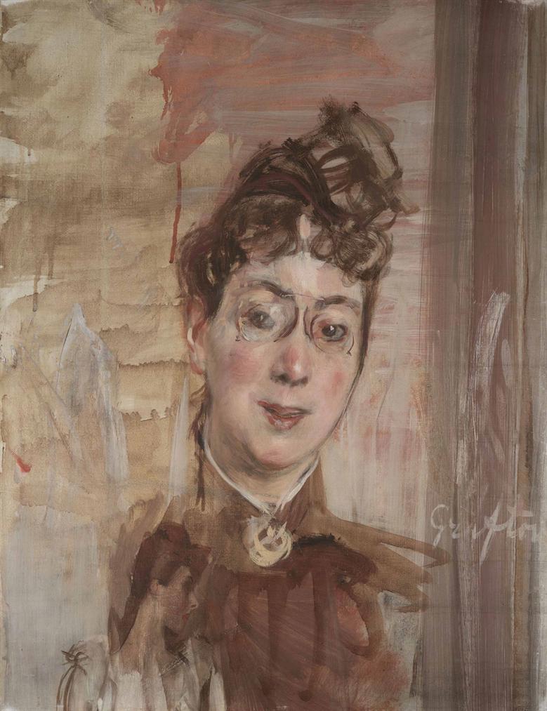 Giovanni Boldini - Linsegnante Di Inglese Mrs. Grafton-1895