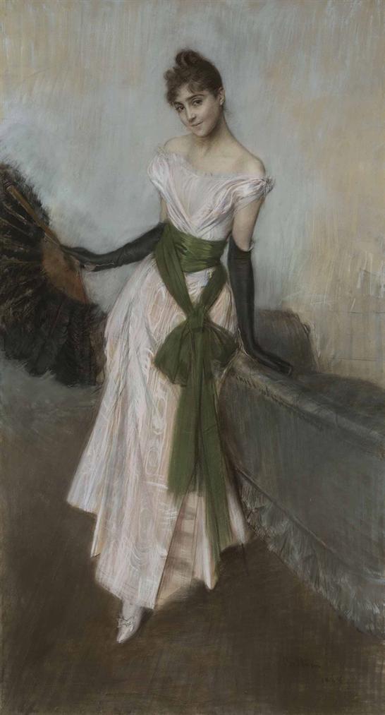 Giovanni Boldini - Ritratto Della Signorina Concha De Ossa-1888