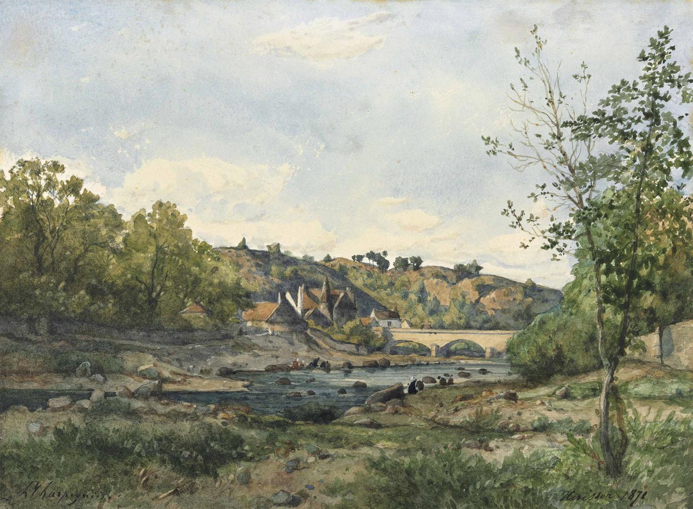 Henri-Joseph Harpignies - Herisson-