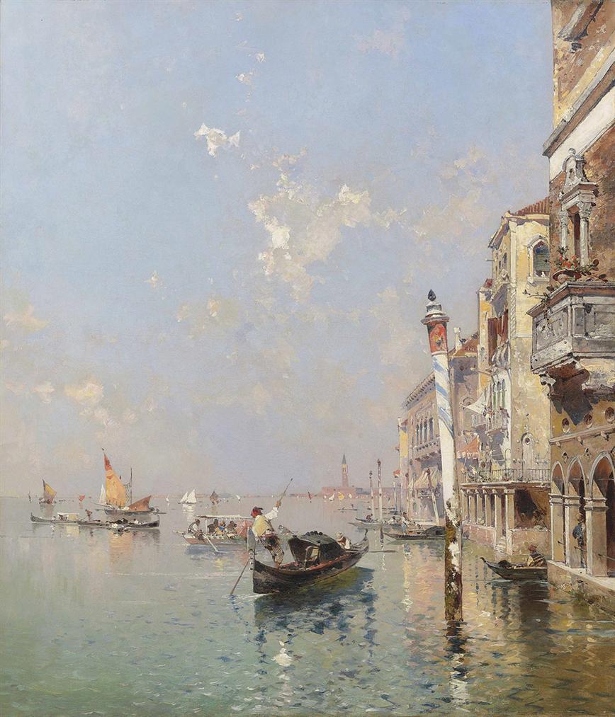 Franz Richard Unterberger - Canale Della Giudecca In Venedig-
