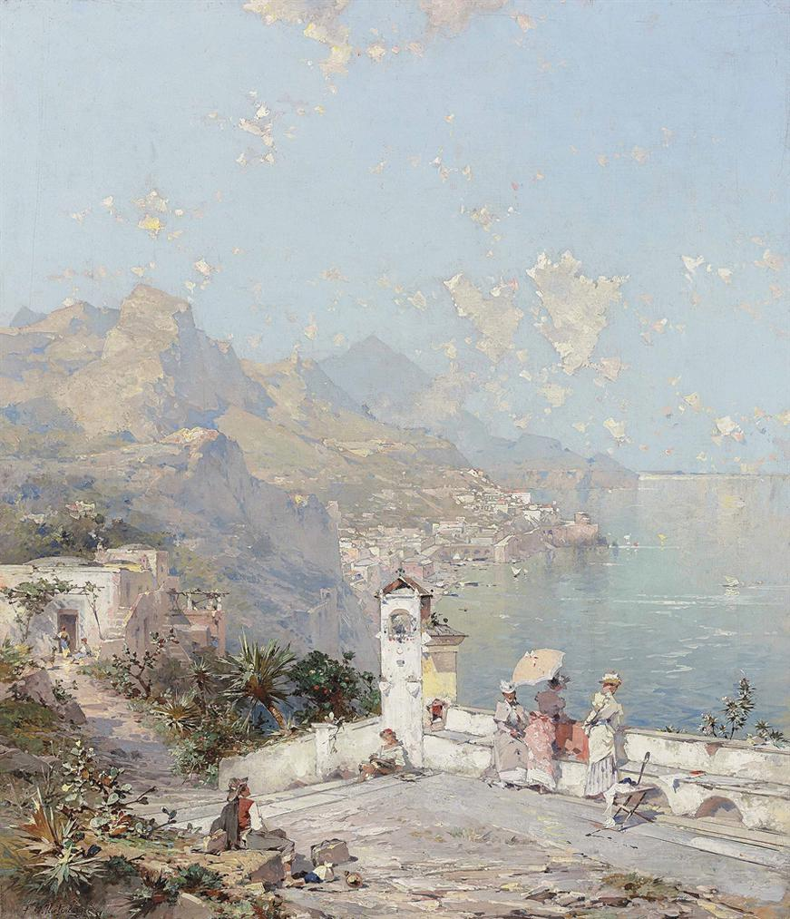 Franz Richard Unterberger - The Amalfi Coast-