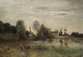 Jean-Baptiste-Camille Corot-Ville Davray, Vachere A Letang-1860