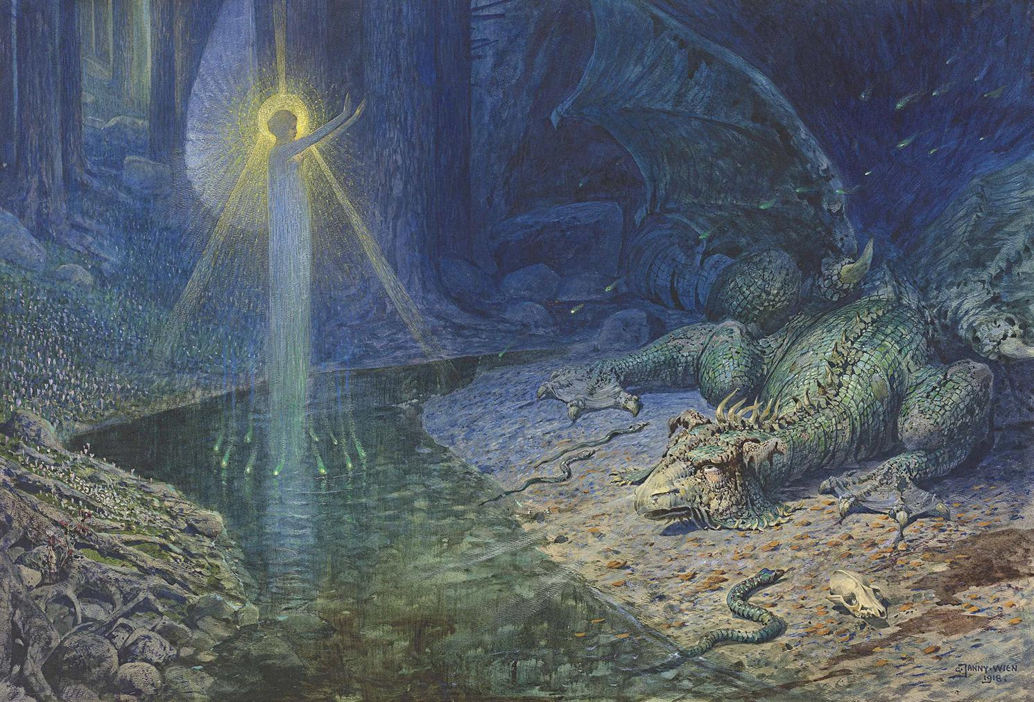 Georg Janny - An Allegory Of Power-1918