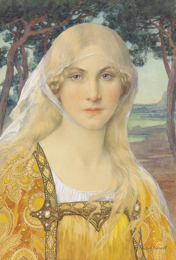 Elisabeth Sonrel - A Girl Wearing Breton Costume-
