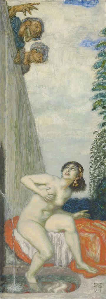 Franz Von Stuck - Susanna Und Die Beiden Alten-1913