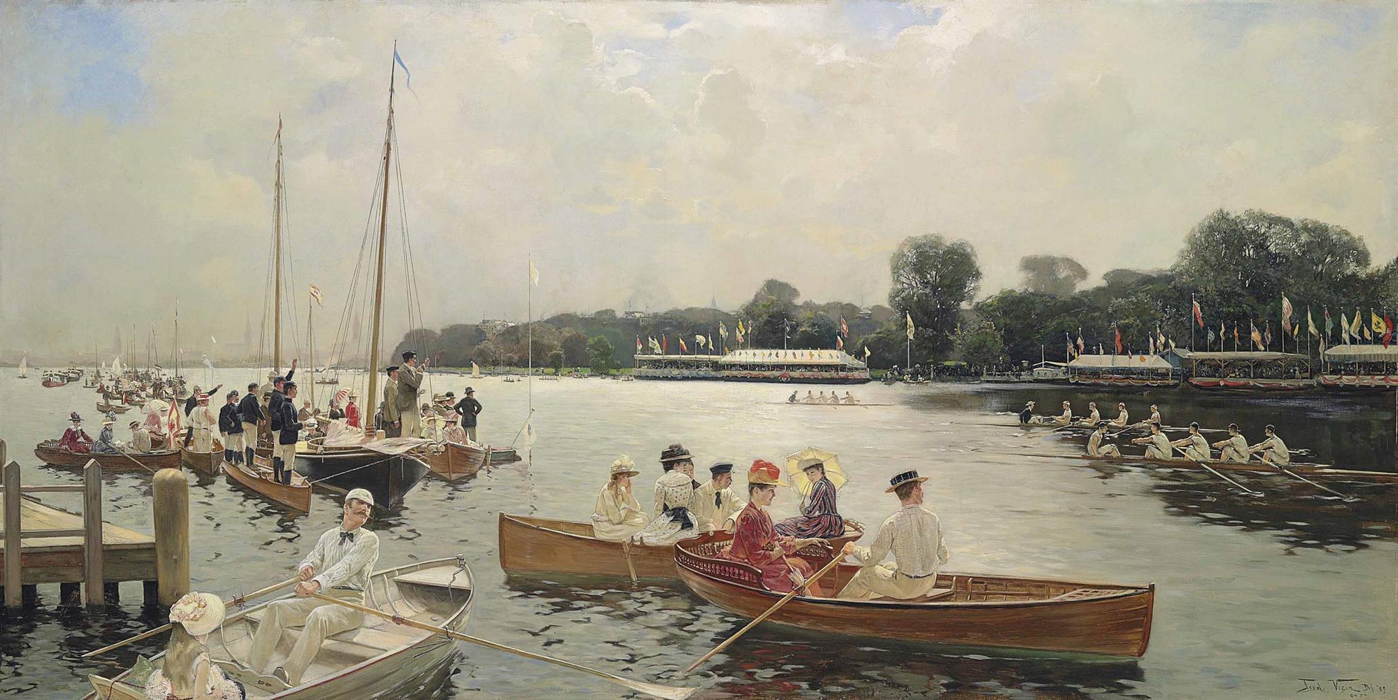 Frederick Vezin - Ruderregatta Auf Der Aussenalster, Hamburg-1889