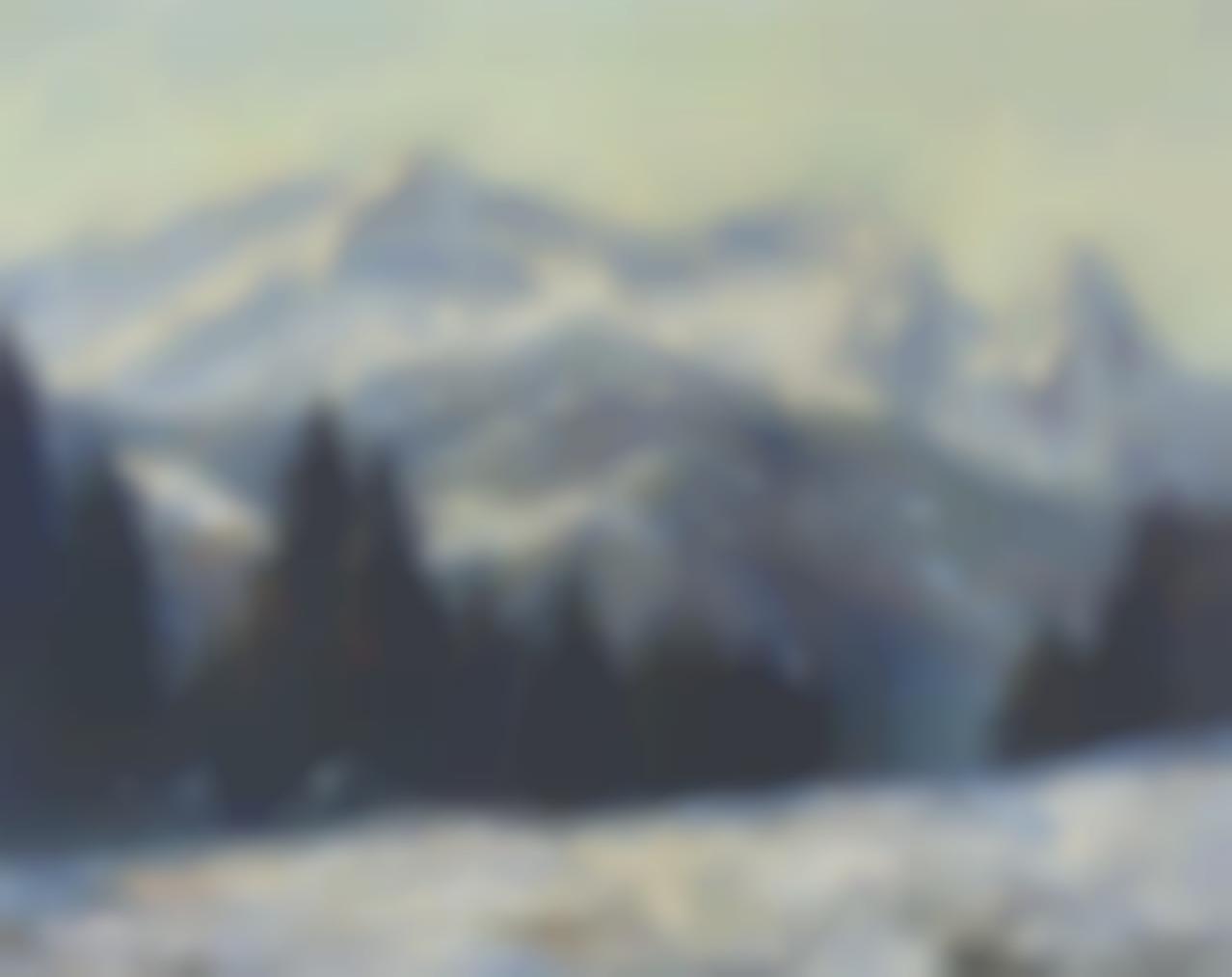 Otto Eduard Pippel - Wintermorgen Im Wettersteingebirge, Zugspitze-