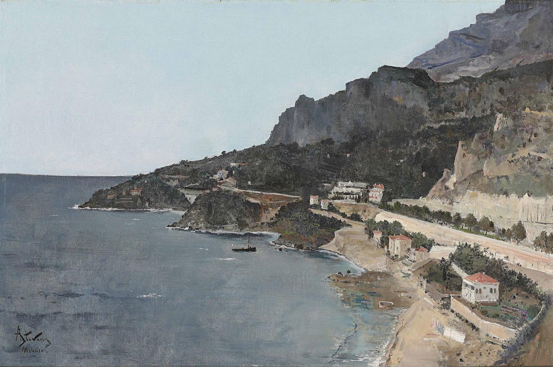 Alfred Stevens - Cap Dail, Vue Prise De Palais Du Prince De Monaco-
