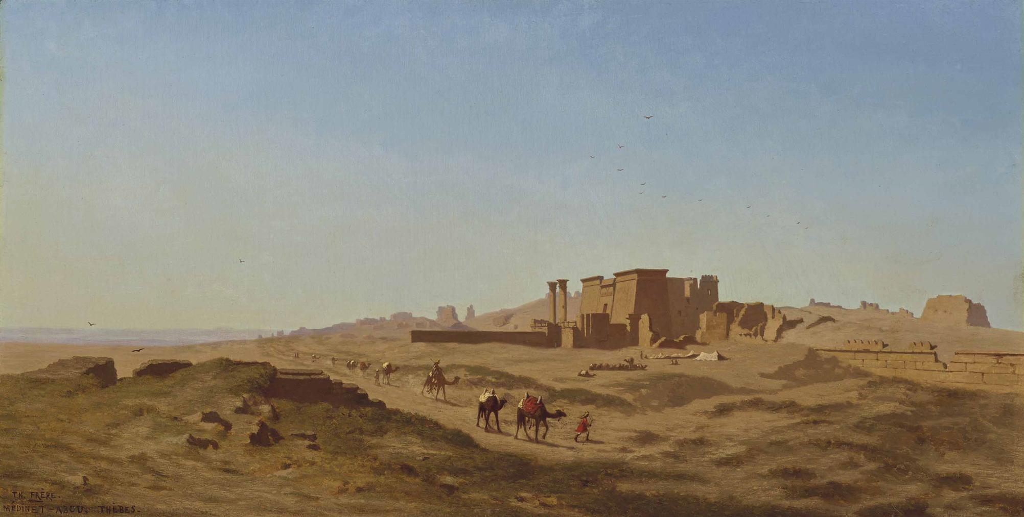 Charles-Theodore Frere - Camel Caravans In Thebes-