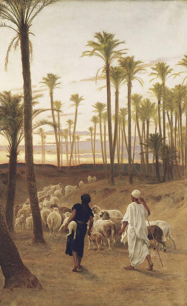 Frederick Goodall - The Palm Grove-