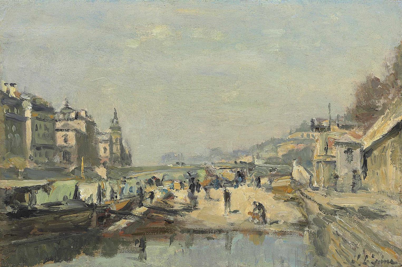 Stanislas-Victor-Edouard Lepine - Le Quai Aux Fleurs Et Le Pont Darcole-1888