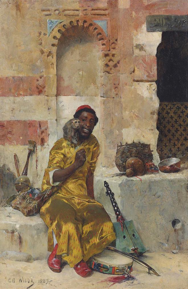 Charles Wilda - The Monkey Trainer-1883
