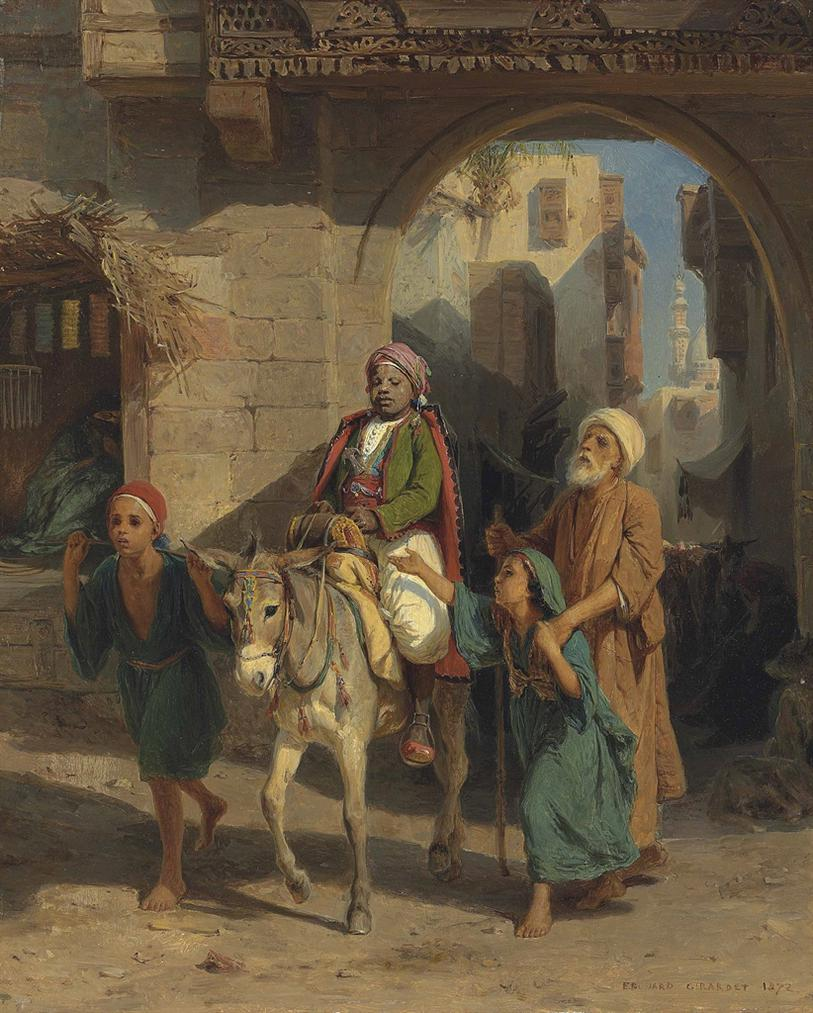 Edouard-Henri Girardet - Entering The City-1872