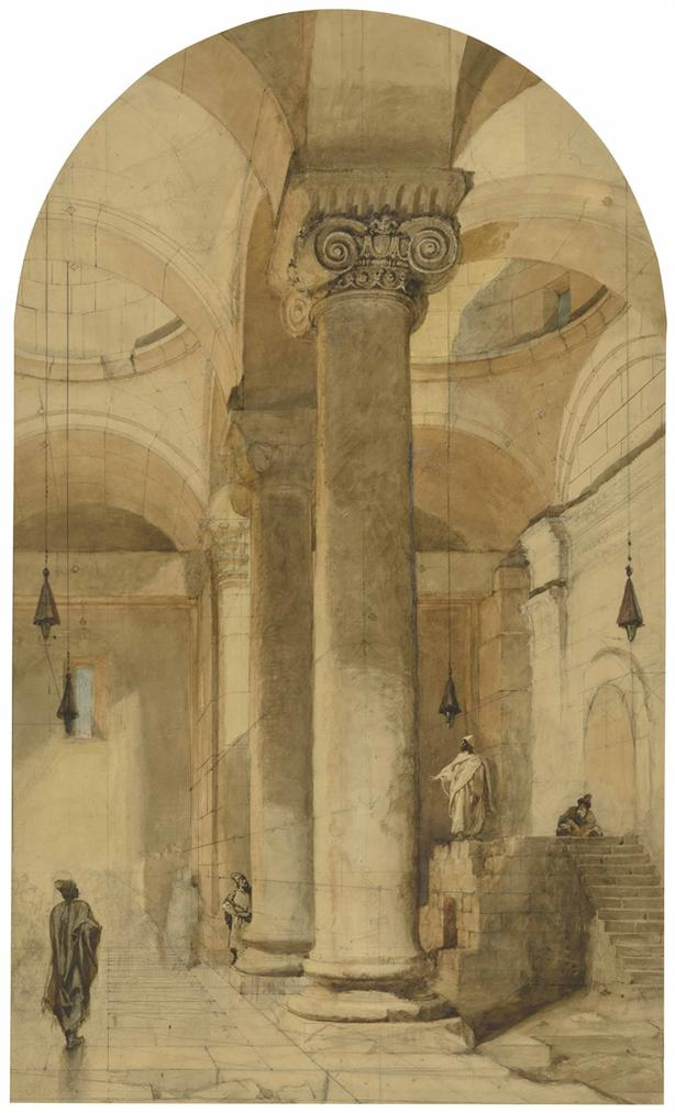 Carl Haag - Interior Of The Golden Gateway In The Temple Area Of Jerusalem-