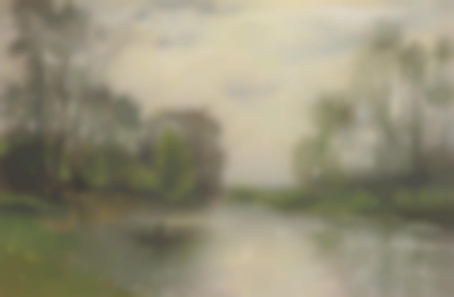 Stanislas-Victor-Edouard Lepine - Les Bords De La Marne-1882