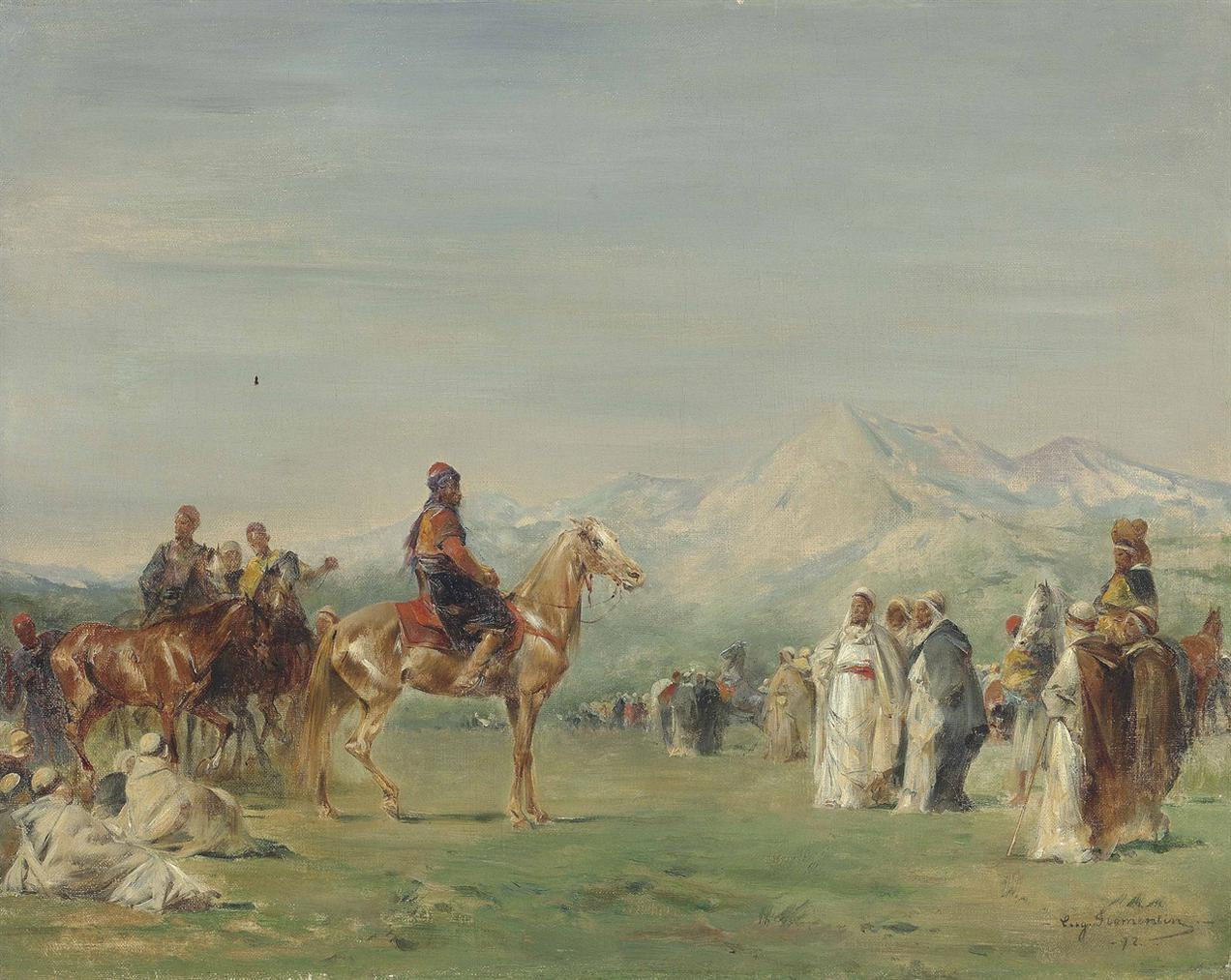 Eugene Fromentin-Campement Arabe Dans Les Montagnes De Latlas-