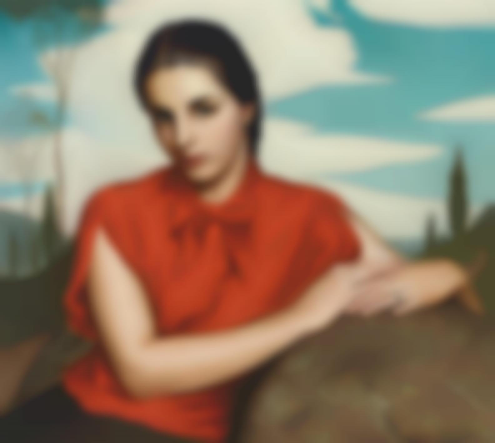 Claude Charles Buck - Leslie In Red Blouse-1938