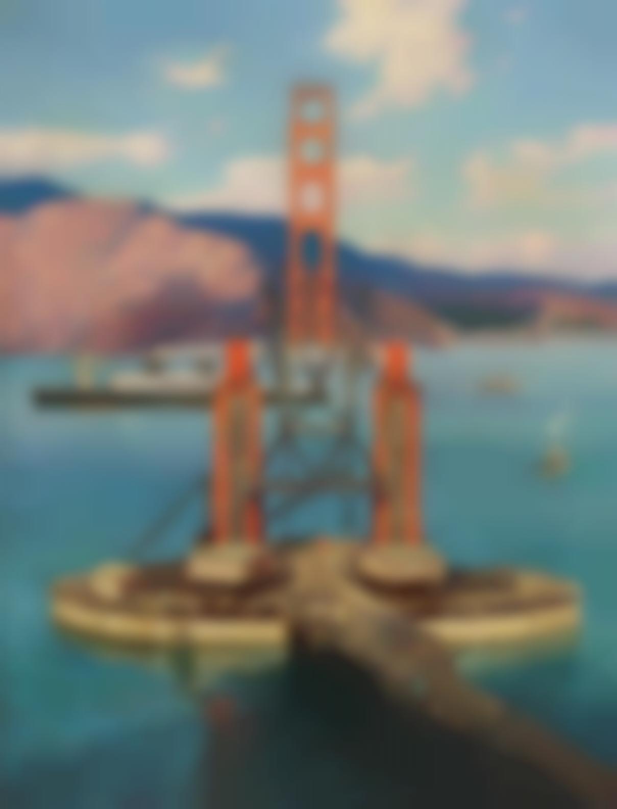 Walter L. Greene - The Construction Of The Golden Gate Bridge-1935