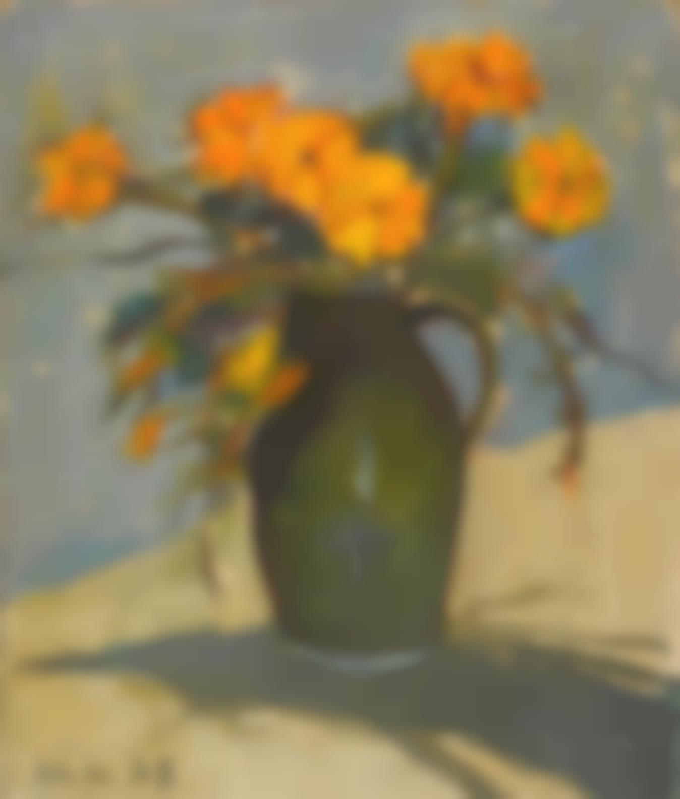 Selden Connor Gile - Still Life With Marigolds-