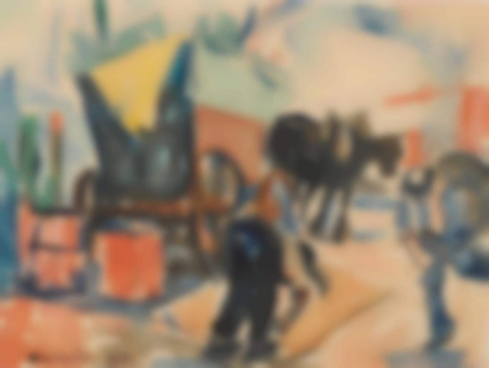 Selden Connor Gile - Mule Cart-1932