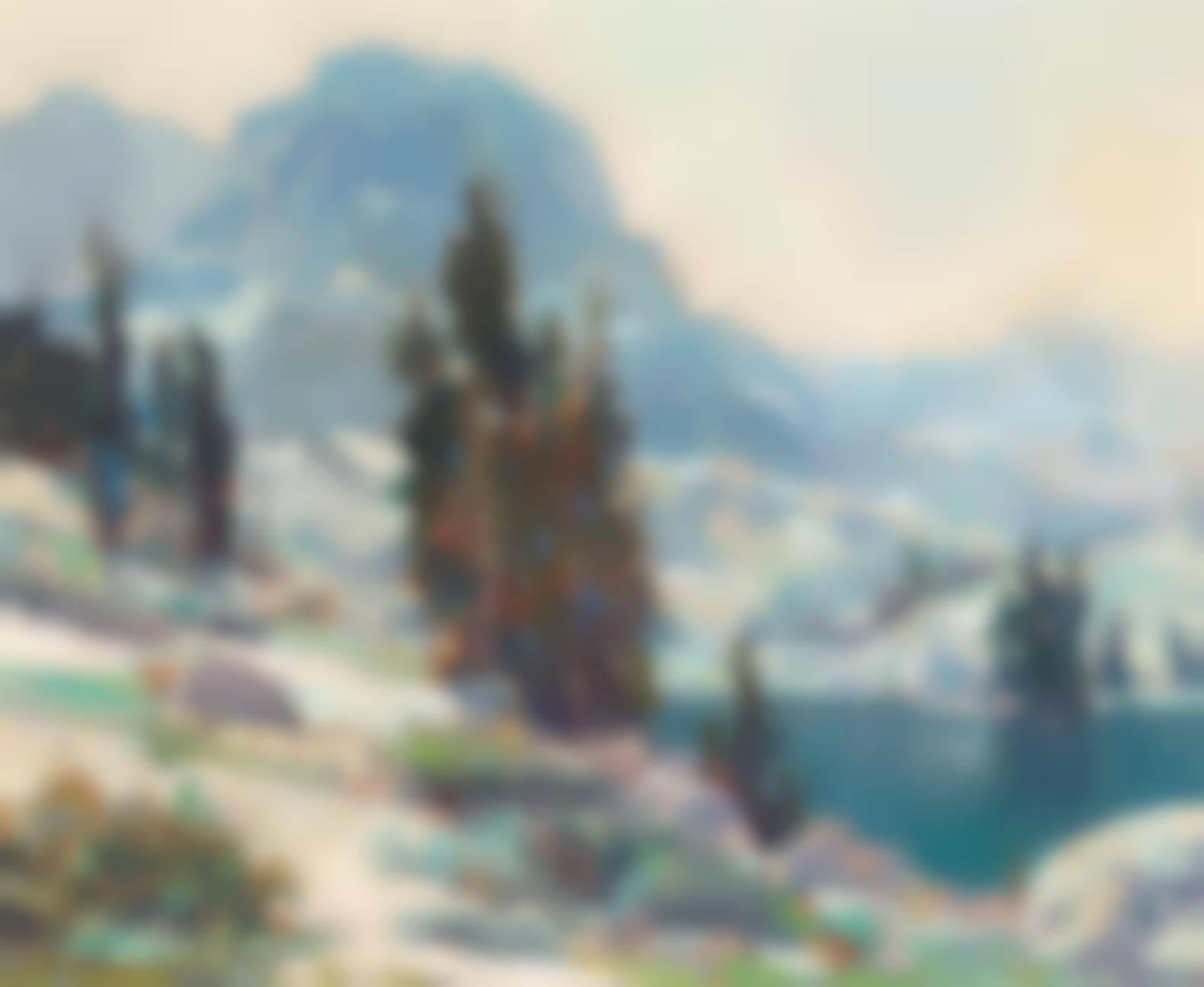 Jack Wilkinson Smith - Mt. Hurd Looking Across South Lake-