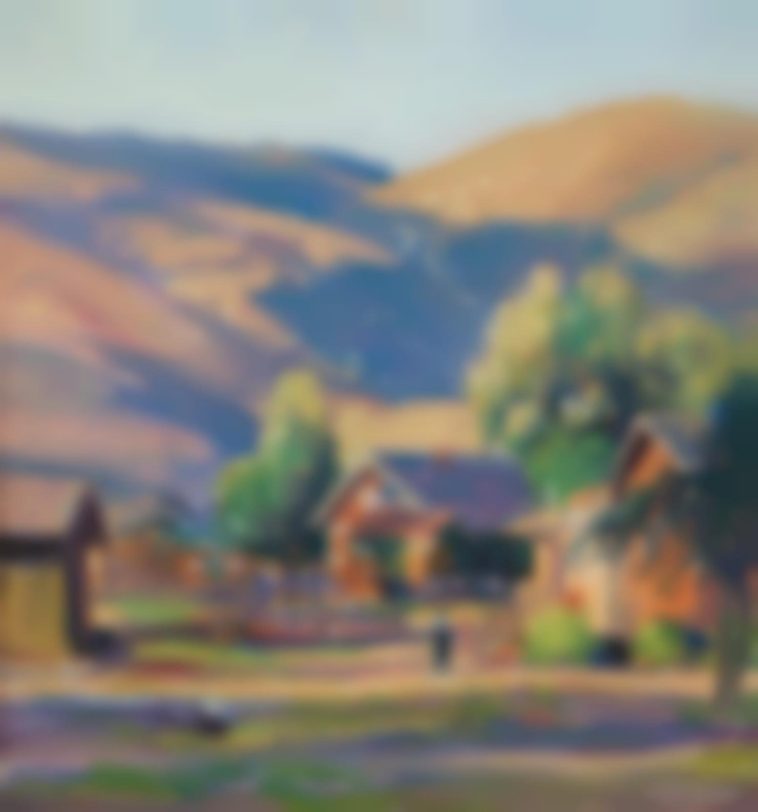 Joseph Kleitsch - A View Of Old Laguna-1931